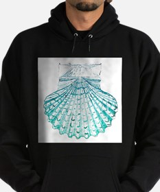 beach turquoise sea shells Hoodie (dark)