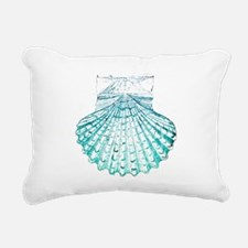beach turquoise sea shel Rectangular Canvas Pillow