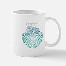 beach turquoise sea shells Mugs
