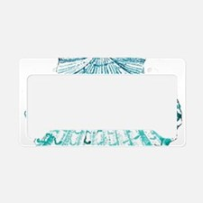 beach turquoise sea shells License Plate Holder