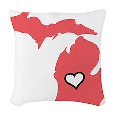 Love MI Woven Throw Pillow