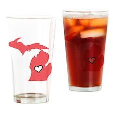 Love MI Drinking Glass