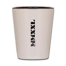 MMXXL Vertical Black Shot Glass