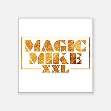 "Magic Mike XXL - Gold Square Sticker 3"" x 3"""