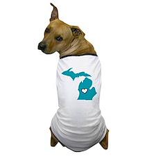 Teal Love Mi Dog T-Shirt