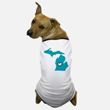 Teal Love Mi Dog T-Shirt