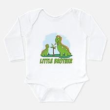 Cute Brontosaurus Long Sleeve Infant Bodysuit
