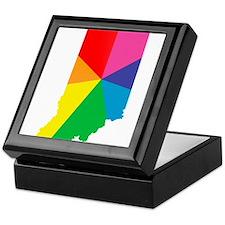 indiana rainbow pride Keepsake Box