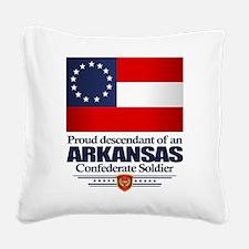 Arkansas Proud Descendant Square Canvas Pillow