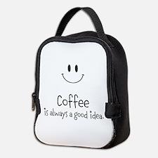 Coffee is always a good idea Neoprene Lunch Bag