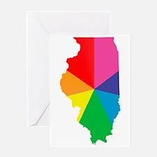 illinois rainbow Greeting Cards
