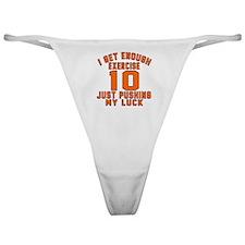 10 Birthday Designs Classic Thong