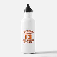 13 Birthday Designs Water Bottle