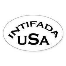 INTIFADA USA Oval Decal