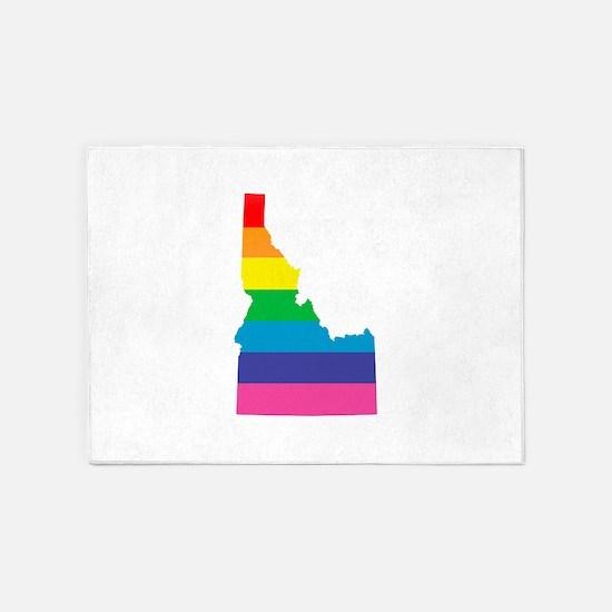 idaho rainbow 5'x7'Area Rug