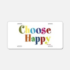 Choose Happy 01 Aluminum License Plate