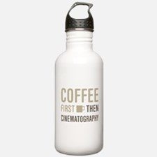 Coffee Then Cinematogr Water Bottle