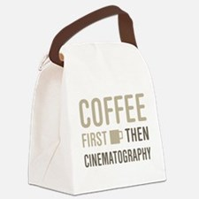 Coffee Then Cinematography Canvas Lunch Bag