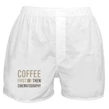 Coffee Then Cinematography Boxer Shorts
