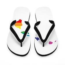 hawaii rainbow Flip Flops