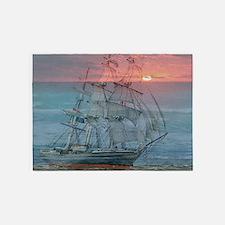 Sunset Ship 5'x7'Area Rug