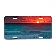 Sunset Beach Aluminum License Plate