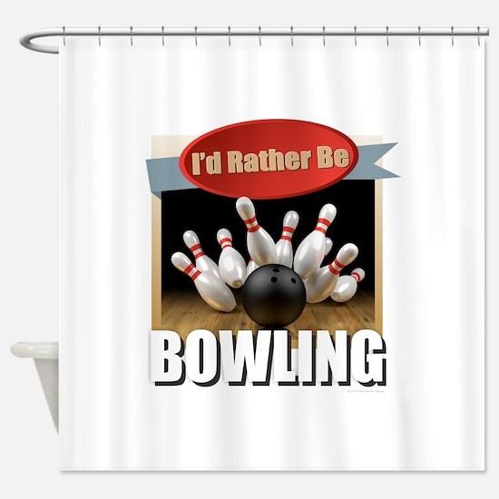 Cute Bowling Shower Curtain