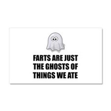 Farts Are Ghosts Car Magnet 20 x 12