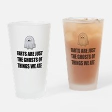 Farts Are Ghosts Drinking Glass