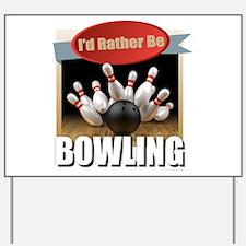Cute Bowling Yard Sign