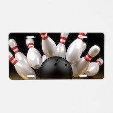 Cute Bowling ball Aluminum License Plate