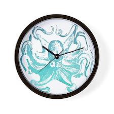 nautical ocean vintage octopus  Wall Clock