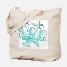 nautical ocean vintage octopus  Tote Bag