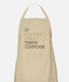 Coffee Then Compose Apron
