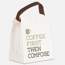 Coffee Then Compose Canvas Lunch Bag