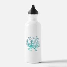 nautical ocean vintage Water Bottle