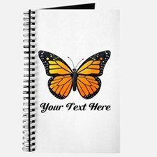Orange Butterfly Custom Text Journal