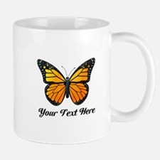 Orange Butterfly Custom Text Mug