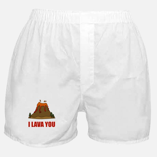 I Lava You Volcano Boxer Shorts