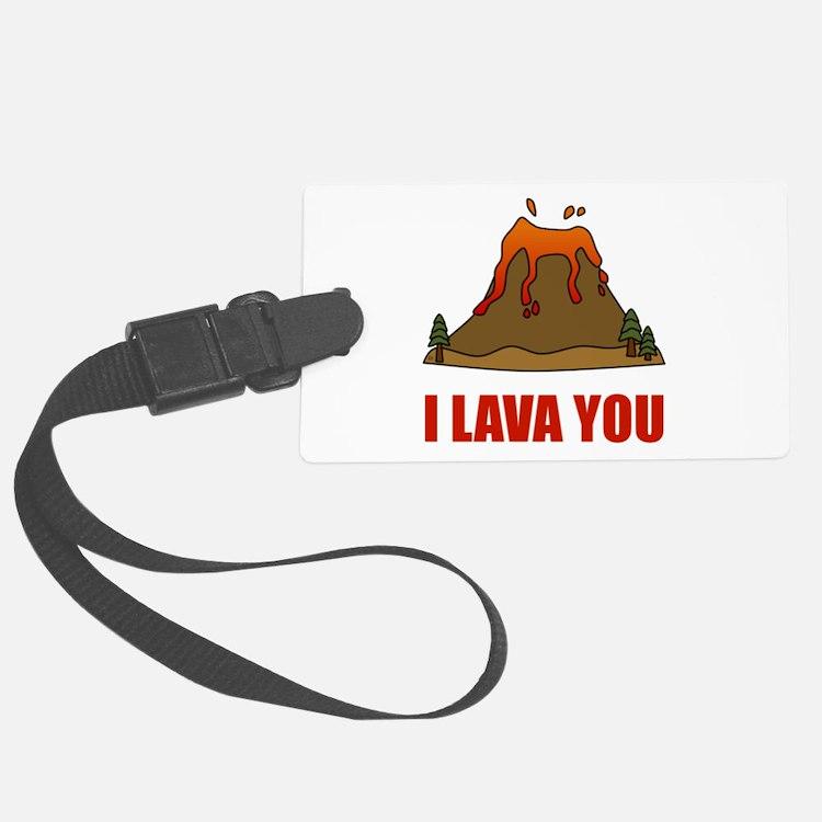 I Lava You Volcano Luggage Tag