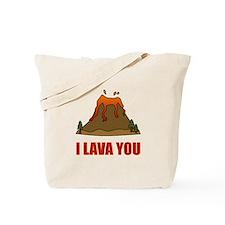 I Lava You Volcano Tote Bag