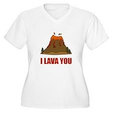 I Lava You Volcano Plus Size T-Shirt