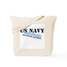 She who waits: Navy Sweethear Tote Bag