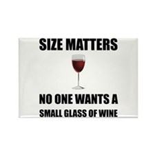 Size Matters Wine Magnets
