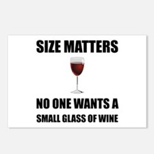 Size Matters Wine Postcards (Package of 8)