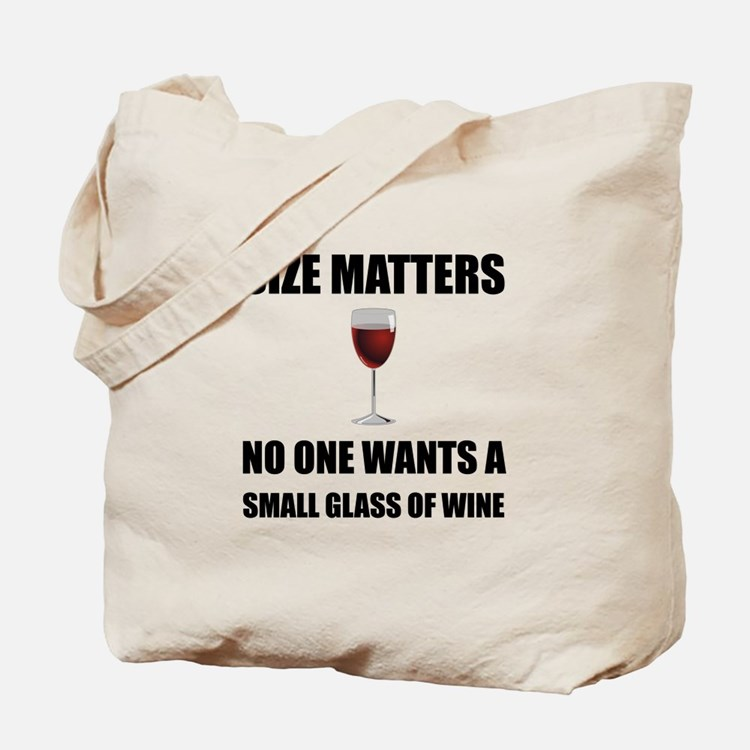 Size Matters Wine Tote Bag