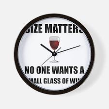 Size Matters Wine Wall Clock