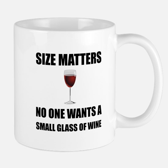 Size Matters Wine Mugs