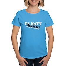 She who waits: Navy Sweethear Tee