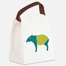Aqua and green tapir Canvas Lunch Bag